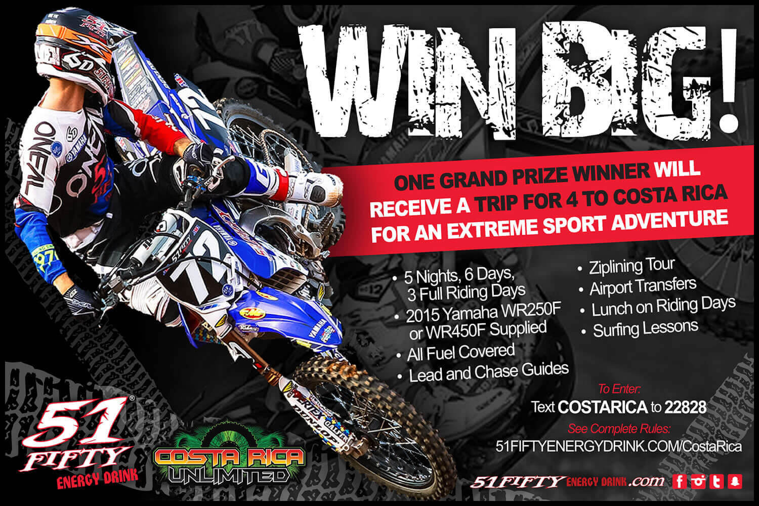 Costa Rica Unlimited contest flyer