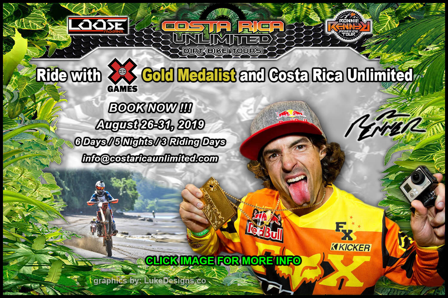 Ride with Ronnie Renner and Costa Rica Unlimited!